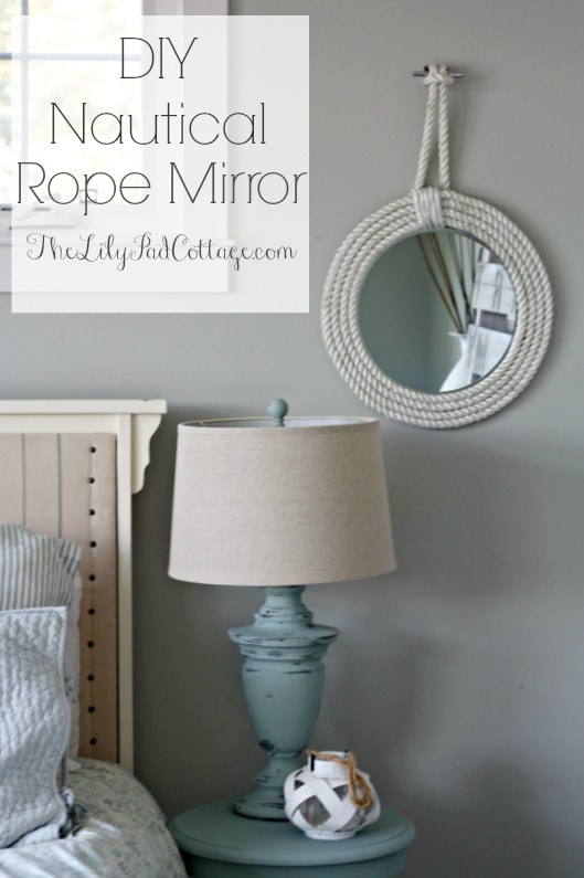 Nautical Rope Mirror - www.thelilypadcottage.com