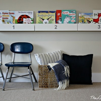 How to make a bookshelf out of…a bookshelf and other playroom fun