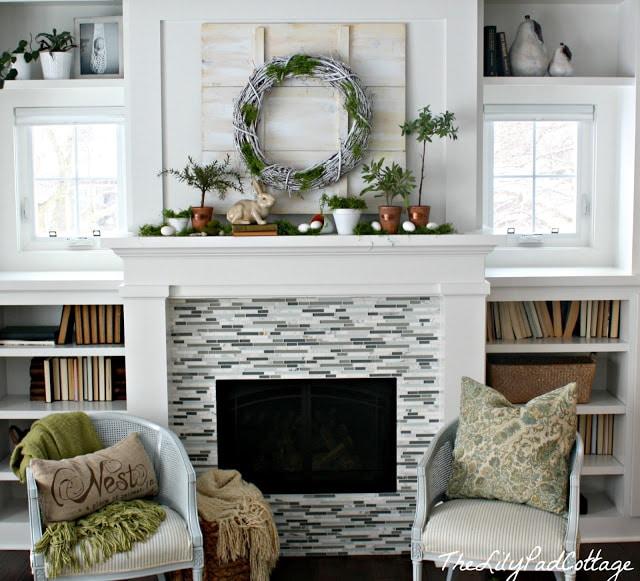 spring mantel the lilypad cottage. Black Bedroom Furniture Sets. Home Design Ideas