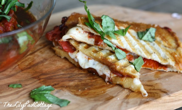 Roasted Caprese Panini - The Lily Pad Cottage