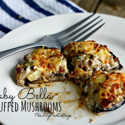Stuffed Baby Bella Mushrooms
