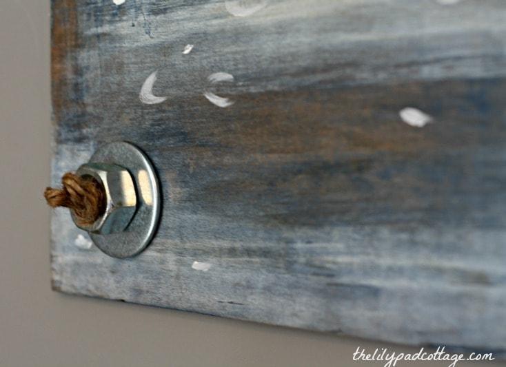 Vintage wall art bolt DIY thelilypadcottage
