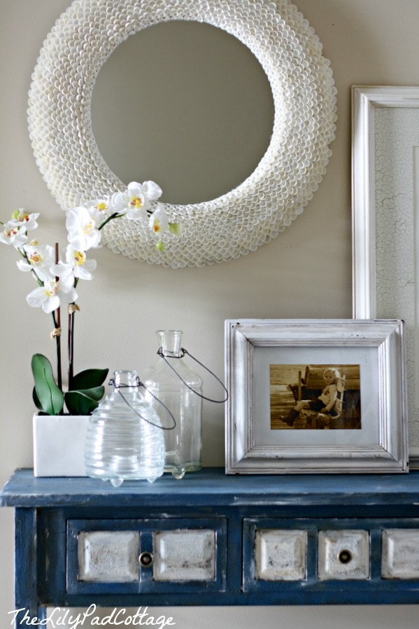 Hall table makeover - thelilypadcottage