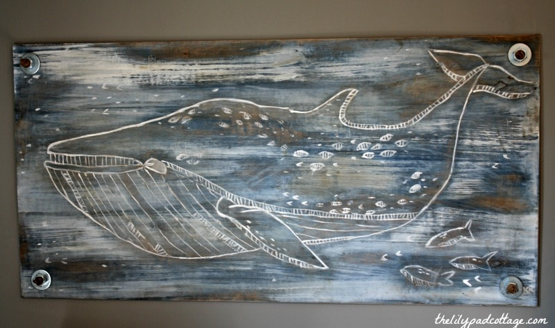 Hand Carved Nautical Wall Art - thelilypadcottage.com