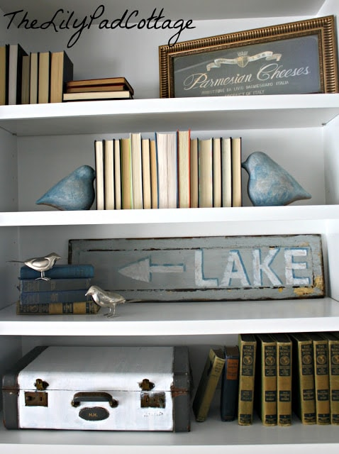 bookshelves - the lily pad cottage