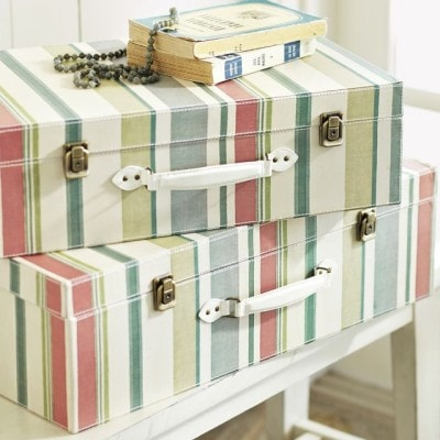 Stripey Luggage DIY