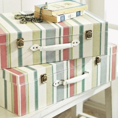 Stripey Luggage DIY