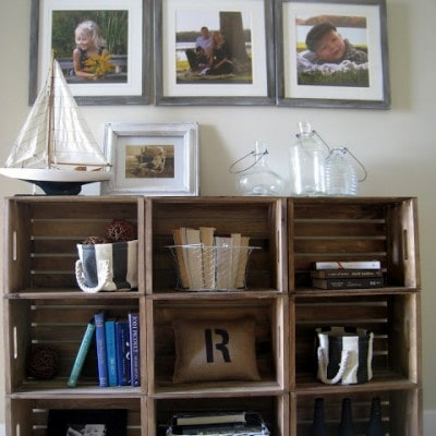Easy Crate Bookshelves