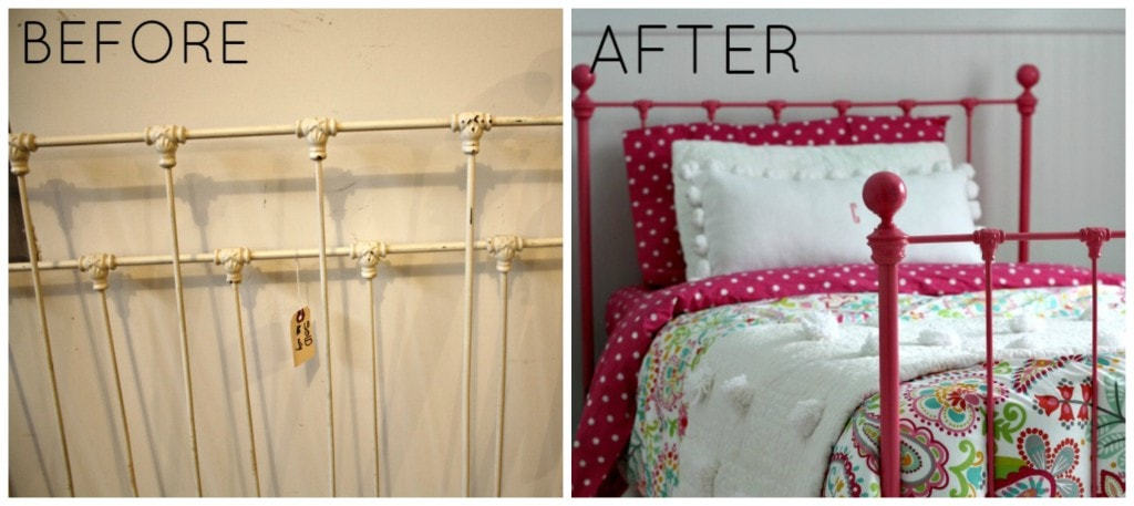 Iron Bed Makeover -www.thelilypadcottage.com