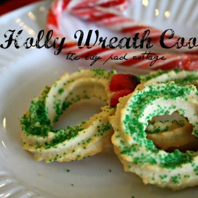 Holly Wreath Cookies