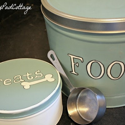 Re-purposed Popcorn Tins