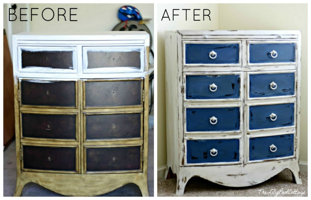 Furniture Redo Annie Sloan Chalk Paint - www.thelilypadcottage.com