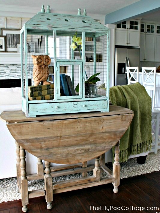 Sofa table - www.thelilypadcottage.com