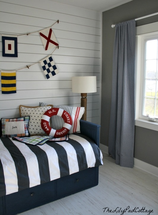 Nautical Bedroom nautical big boy room reveal - the lilypad cottage