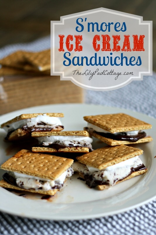 S'more Ice Cream Sandwiches - www.thelilypadcottage.com