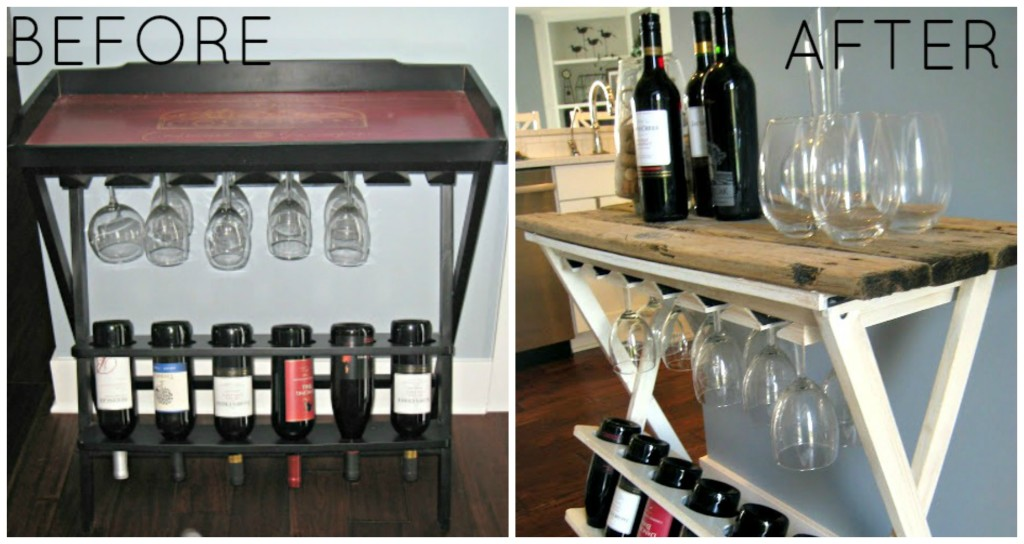 Wine Rack Makeover - www.thelilypadcottage.com