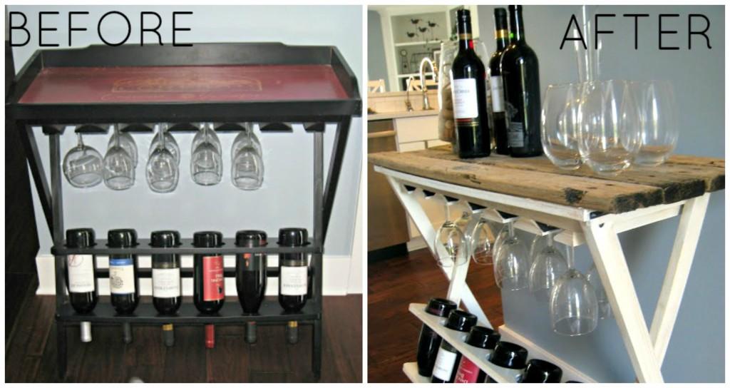 Wine Rack Makeover - www.thelilypadcottage.com