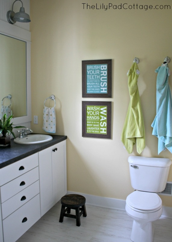 kids bathroom makeover bathroom reveal and giveaway the lilypad cottage 13334