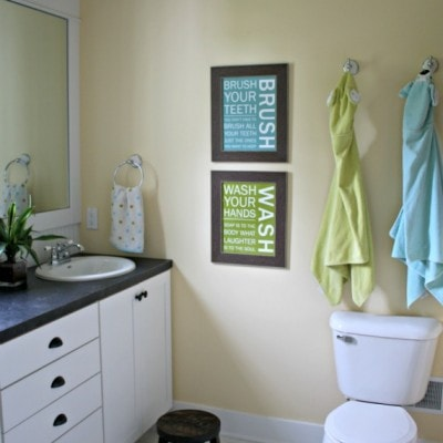 Kids Bathroom Reveal and Fun Giveaway
