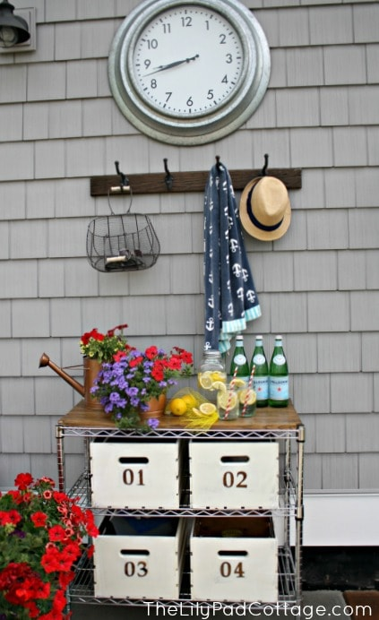 Outdoor Buffer and Mudroom - www.thelilypadcottage.com