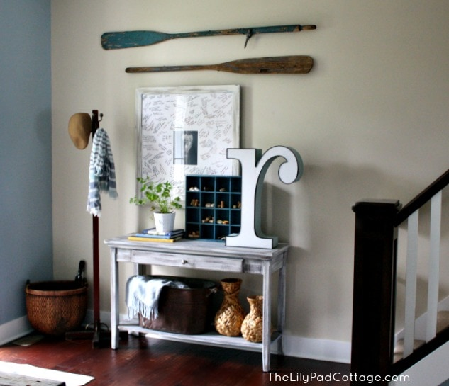 Rustic Cottage Foyer : Vintage entryway decor trash to treasure the lilypad