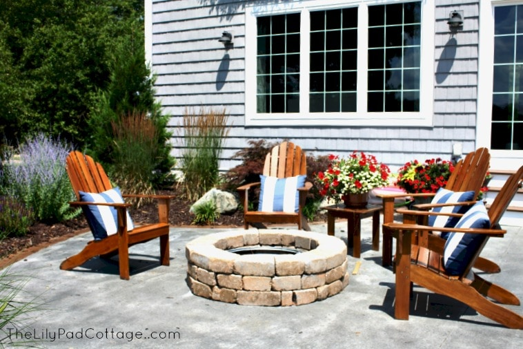 Fire pit www.thelilypadcottage.