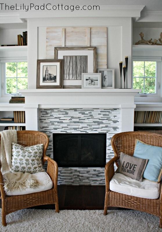 fireplace - www.thelilypadcottage.com