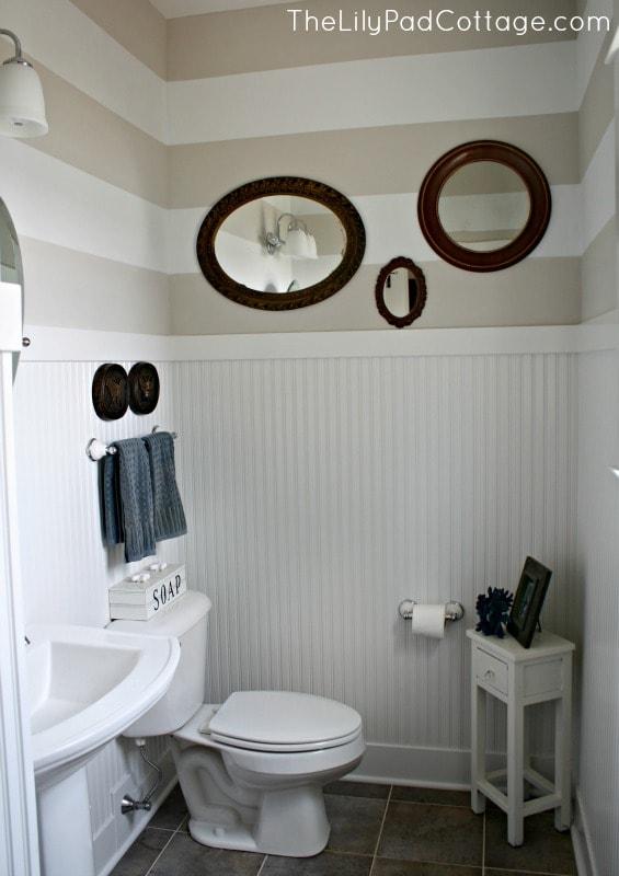 Half Bath - www.thelilypadcottage.com