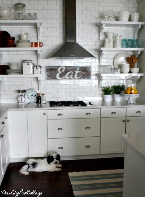 Kitchen - home tour - www.thelilypadcottage.com