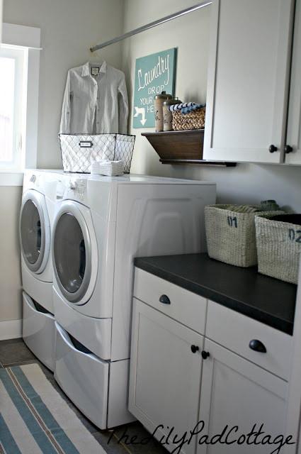 Laundry Room - www.thelilypadcottage.com