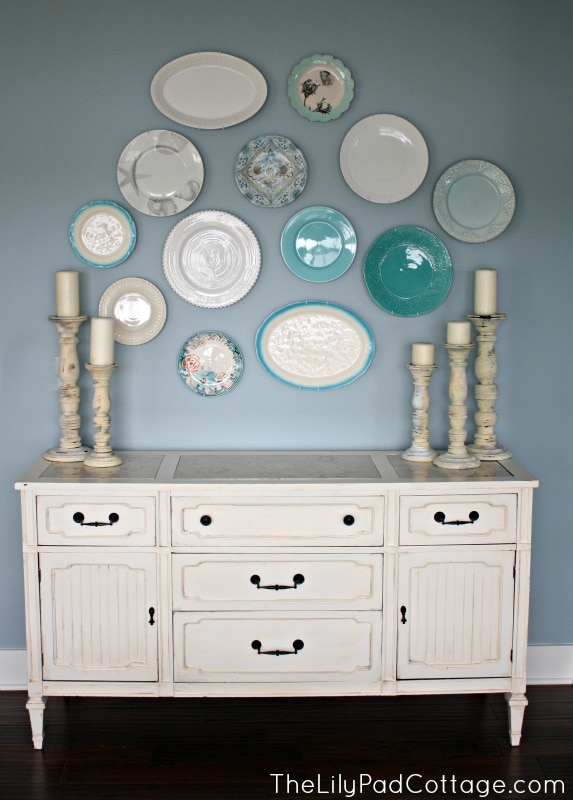 Plate wall - thelilypadcottage.com