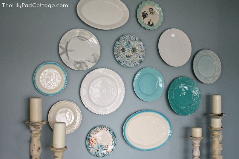 Wall Decor Hanging Plates - www.thelilypadcottage.com