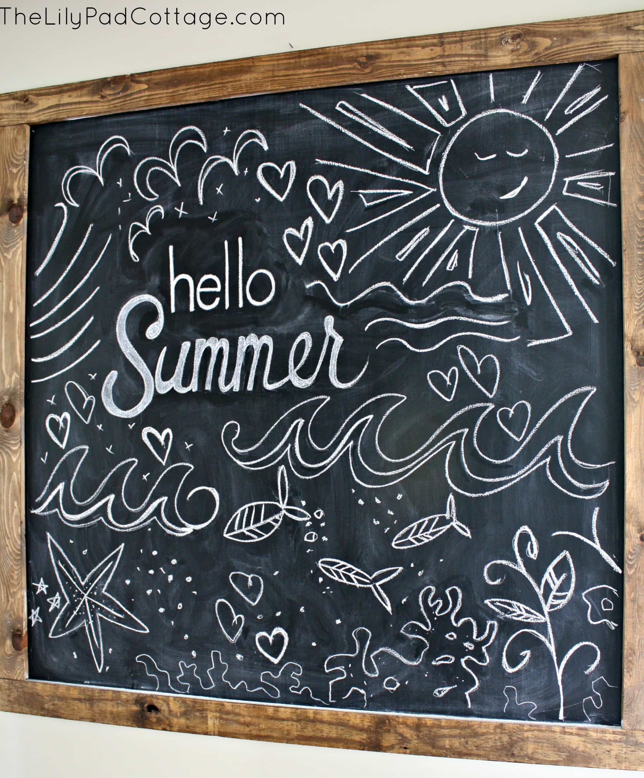 Hello Summer! Summer Chalkboard - The Lilypad Cottage
