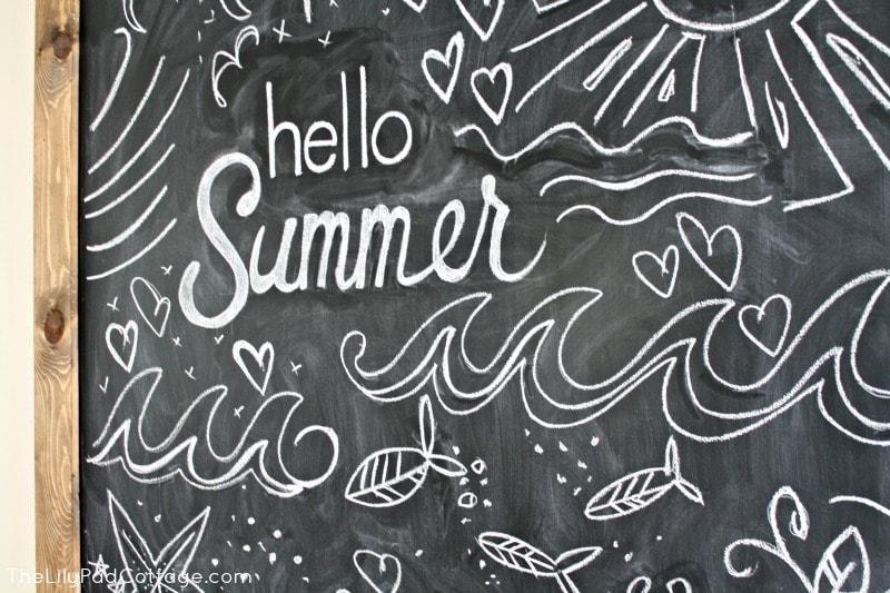 Bon Summer Chalkboard