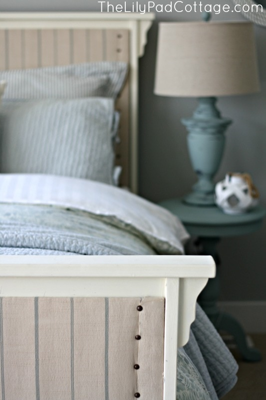 Upholstered Bed DIY - www.thelilypadcottage.com