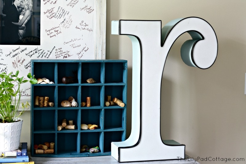 Decorating with vintage letters - www.thelilypadcottage.com