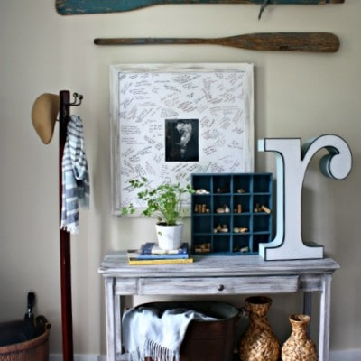 Vintage Entryway Decor – Trash to Treasure
