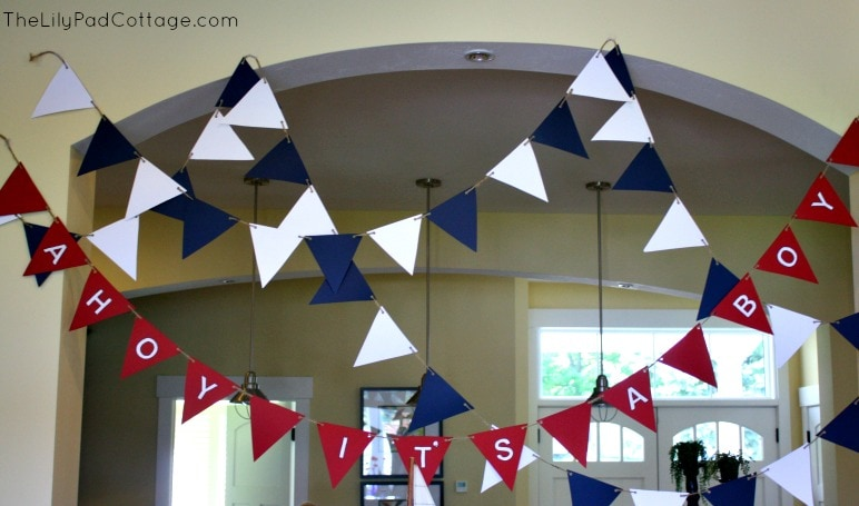 Ahoy it's a Boy Bunting