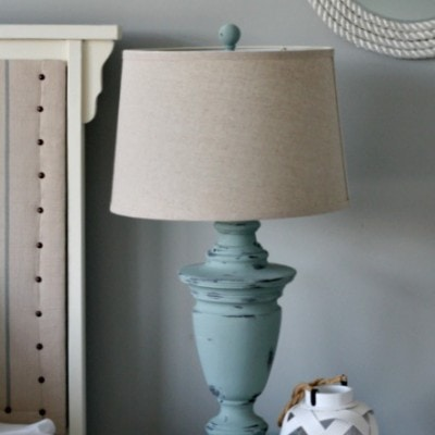 Chalk Painted Lamp and a Giveaway