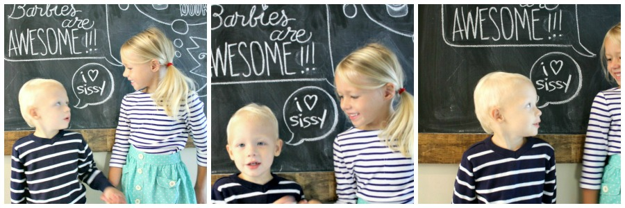 Back to school survey chalkboard art