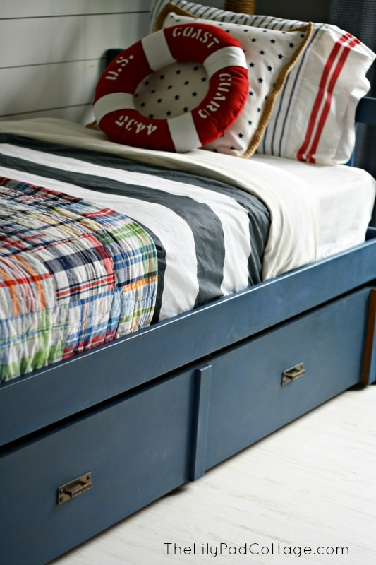Navy Painted Bed