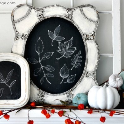 Fall Mantel – decorating with chalkboards