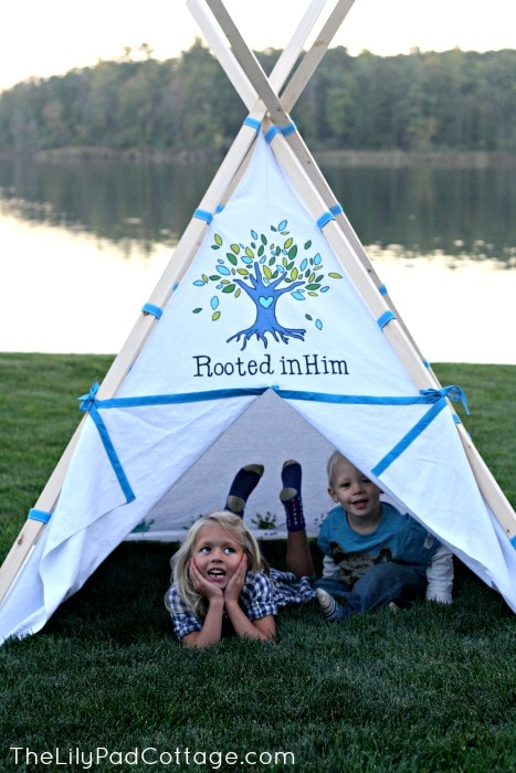 Kids Teepee DIY