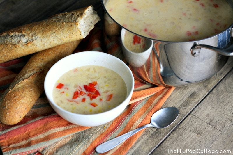 Spicy Corn Chowder and Giving Back with Project 7 - The Lilypad ...