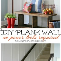 Easy step by step instructions to DIY plank wall - no power tools required!