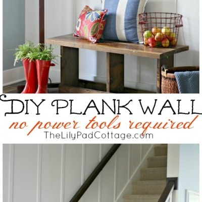 How to DIY a Plank Wall – no power tools needed!
