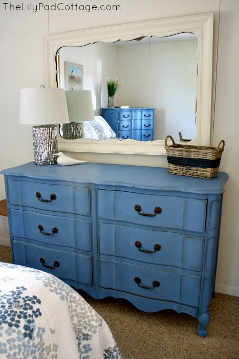 Greek Blue Chalk Painted Dresser