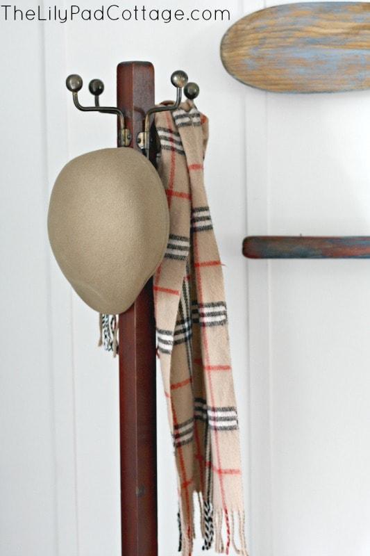 Vintage coat rack and entry decor ideas