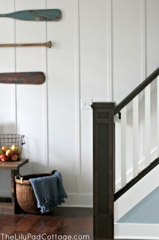 Planked Staircase wall