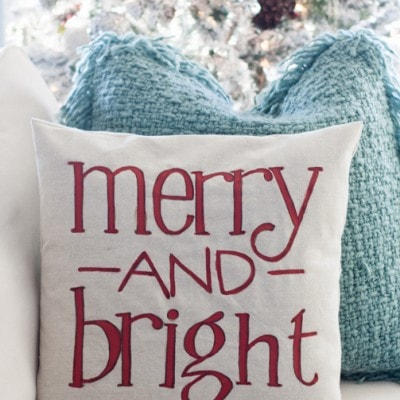 Christmas Pillow – and a ketchup chair